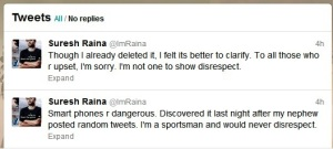 Raina Apology