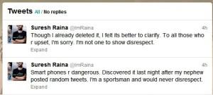 Raina Apology