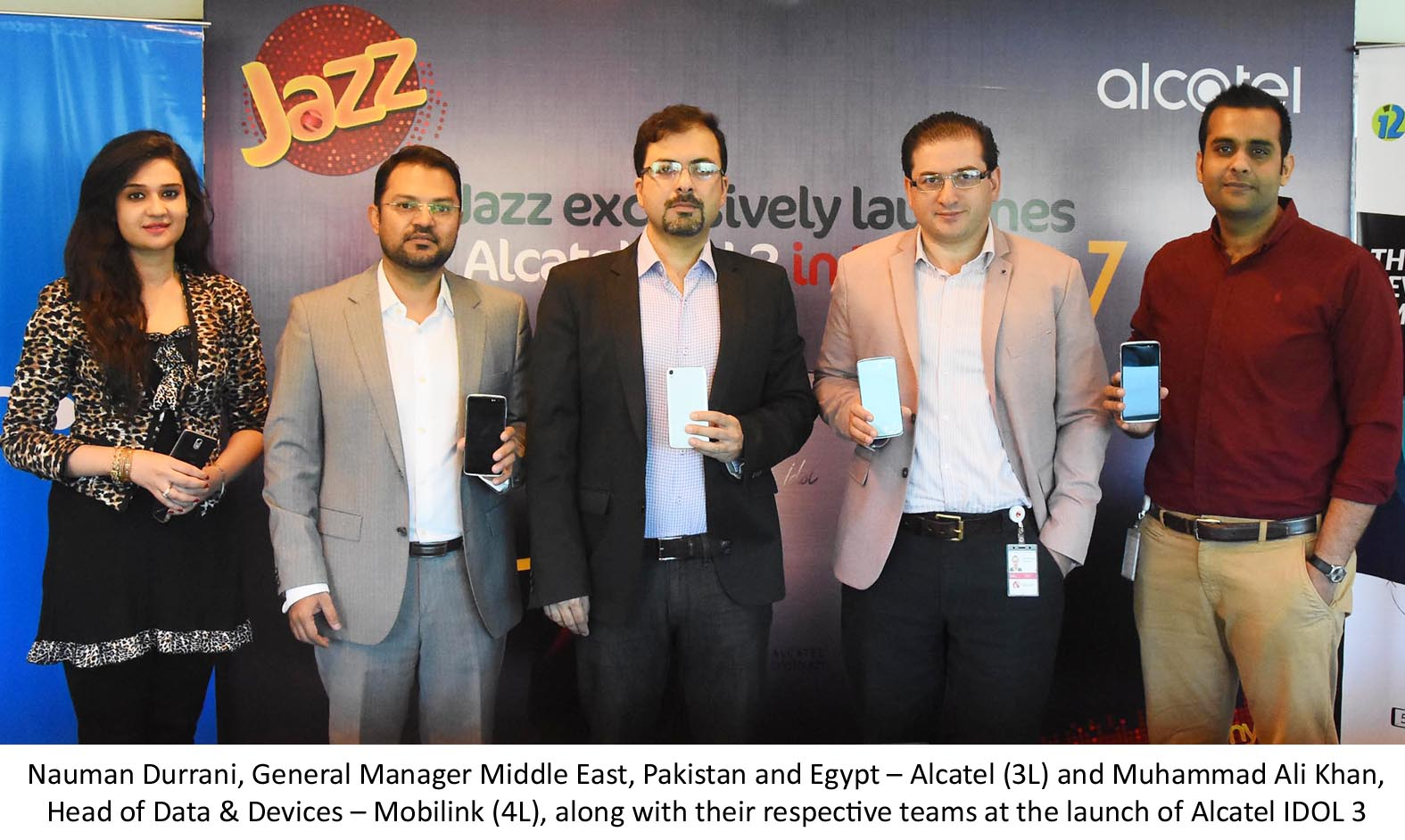 Mobilink, Mobilink Launching Alcatel IDOL3, Smartphones, Mobilink launching smartphones