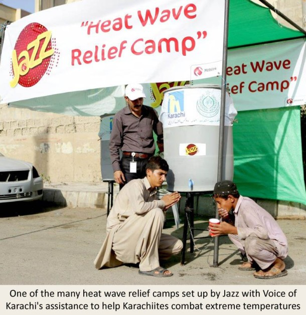 Mobilink, Jazz, Mobilink Heatwave relief camp