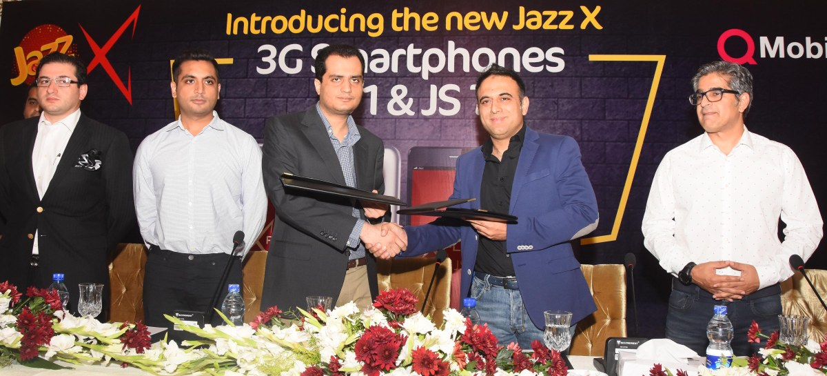 Mobilink Partners with QMobile to Launch Two Jazz X 3G Smartphones