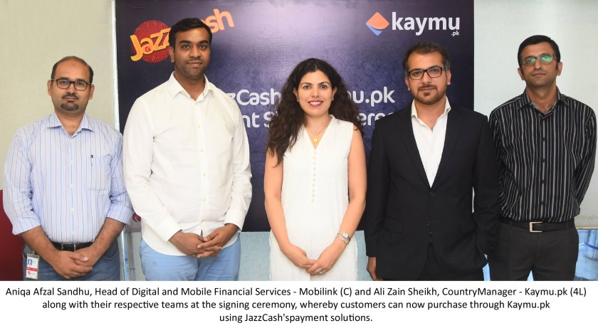 Jazz Cash to offer payment solutions for Kaymu.pk customers (ceremony)
