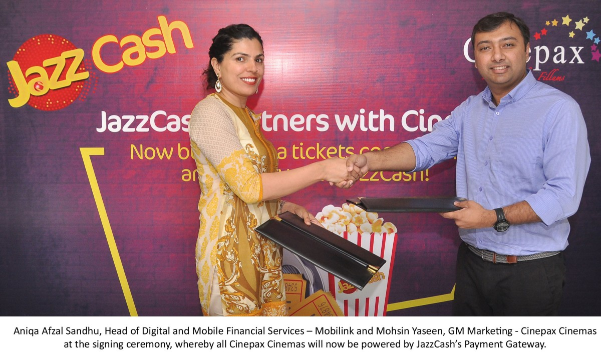 JazzCash to Offer a One-Touch Solution for Ticket Purchase at Cinepax