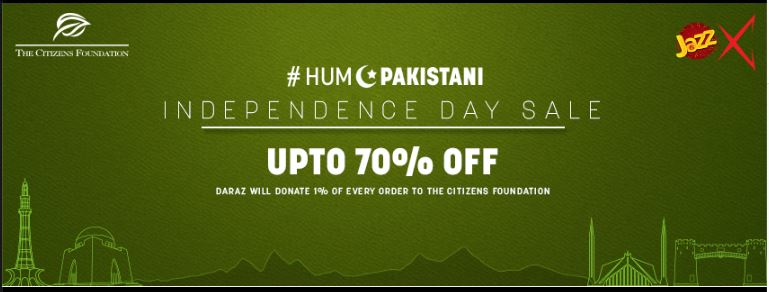 #HumPakistani, Daraz Group, Independence Day Sale, The Citizens Foundation