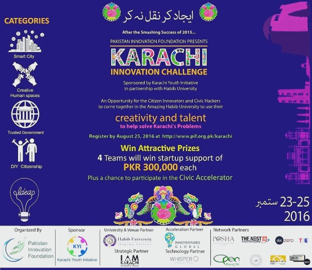 #KHIinnovates, Karachi Innovation Challenge,  PIF, Pakistan Innovation Foundation