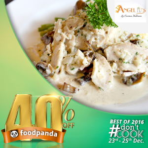 foodpanda, #DontCook, Best of 2016 23rd-25th Dec, Islamabad, angelos