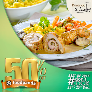 foodpanda, #Don'tCook, Best of 2016 23rd-25th Dec, Islamabad, Bramda