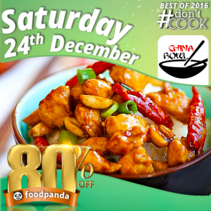 foodpanda, #Don'tCook, Best of 2016 23rd-25th Dec, Islamabad, China Bowl