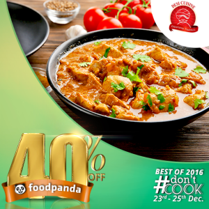 foodpanda, #Don'tCook, Best of 2016 23rd-25th Dec, Islamabad, Desi Cuisine