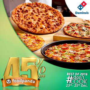 foodpanda, #Don'tCook, Best of 2016 23rd-25th Dec, Islamabad, Domios