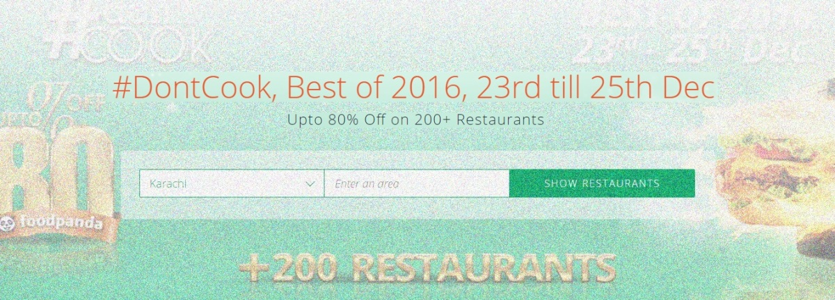 foodpanda Best of 2016 – #DontCook