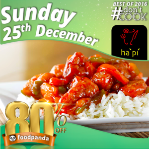 foodpanda, #Don'tCook, Best of 2016 23rd-25th Dec, Islamabad, ha pu