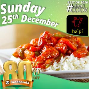 foodpanda, #Don'tCook, Best of 2016 23rd-25th Dec, Islamabad, ha pu