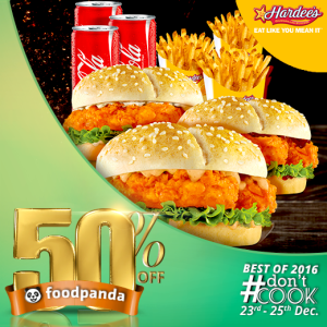 foodpanda, #Don'tCook, Best of 2016 23rd-25th Dec, Islamabad, Hardee's