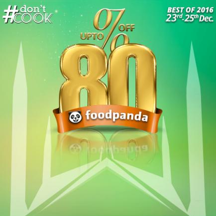 foodpanda, #DontCook, Best of 2016 23rd-25th Dec, Islamabad