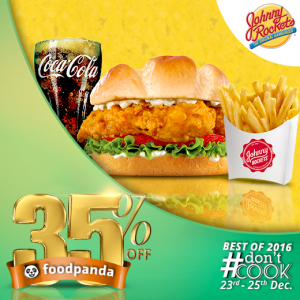 foodpanda, #Don'tCook, Best of 2016 23rd-25th Dec, Islamabad, Johny rockets