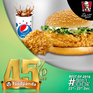 foodpanda, #Don'tCook, Best of 2016 23rd-25th Dec, Islamabad, KFC