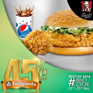 foodpanda, #Don'tCook, Best of 2016 23rd-25th Dec, Islamabad, KFC