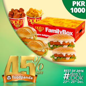 foodpanda, #Don'tCook, Best of 2016 23rd-25th Dec, Islamabad, OPTP