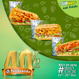 foodpanda, #Don'tCook, Best of 2016 23rd-25th Dec, Islamabad, Subway